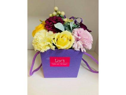 luxusné šumivé ruže - fialová ruža