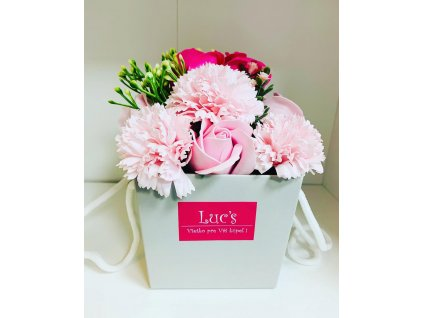 luxusné šumivé ruže - ružová ruža