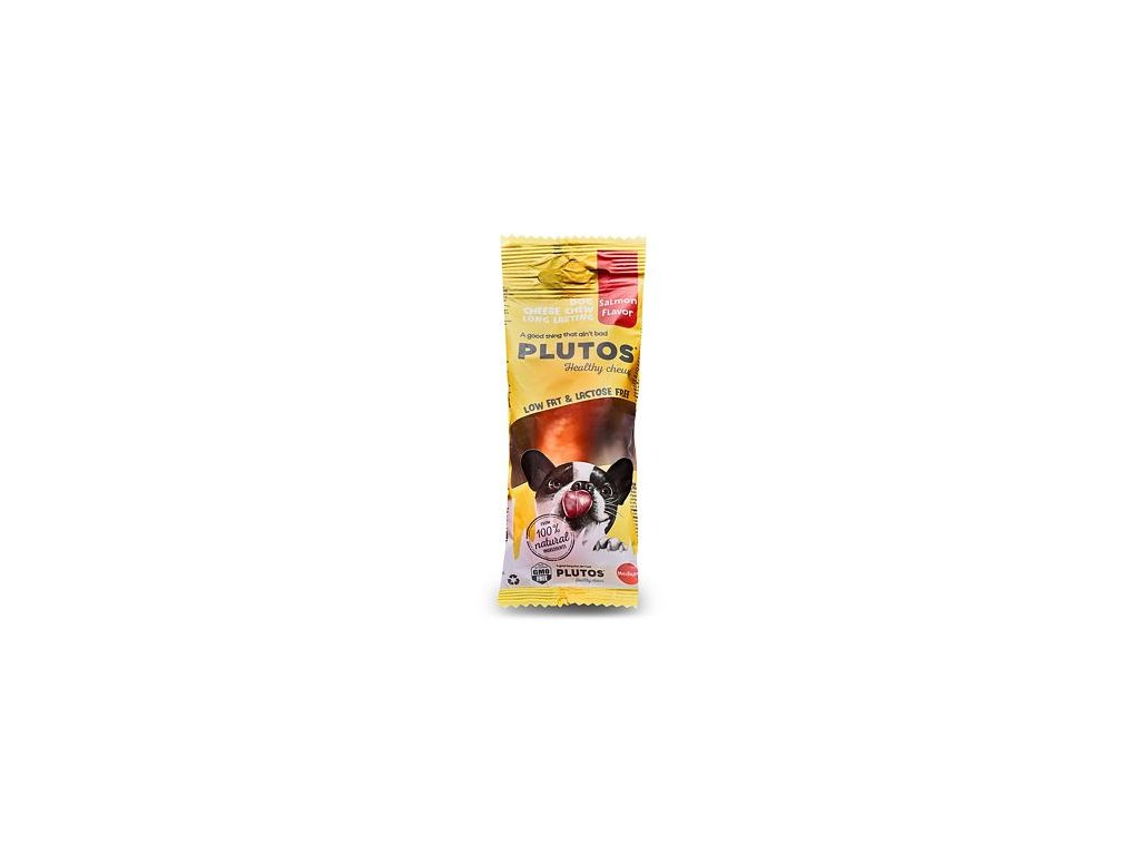 Plutos sýrová kost Medium s lososem