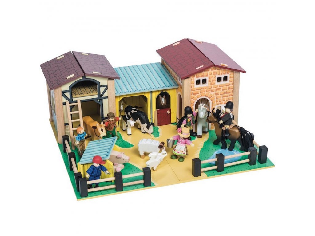 TV410 Farmyard Farm Barn Wooden Play Set