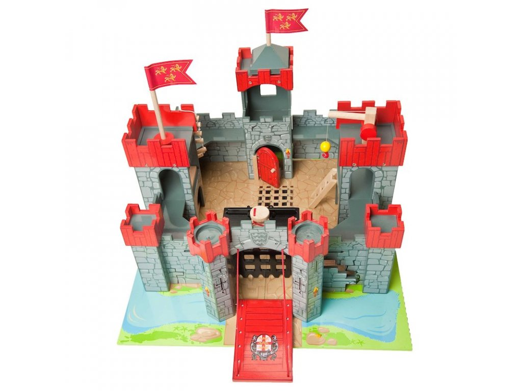 TV290 Lionheart Castle Red Knight Tower Flag