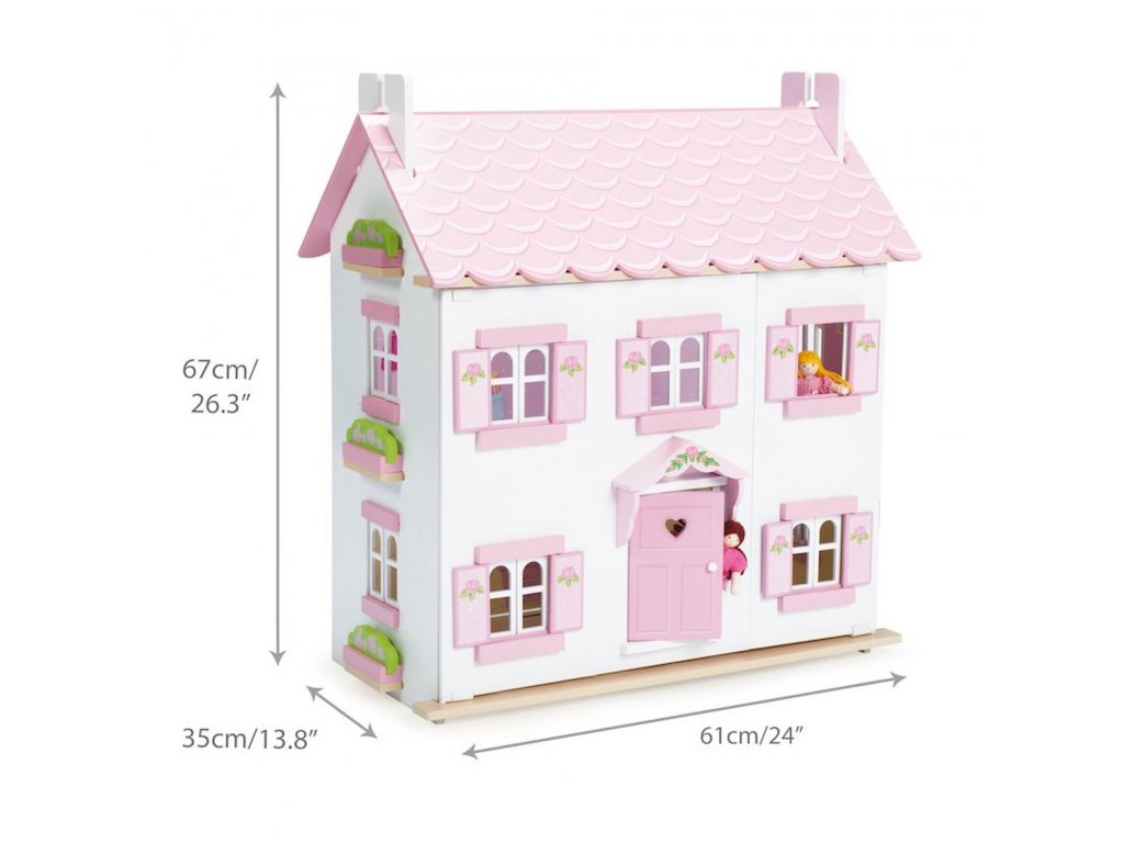 H104 Sophie Pink Wooden Quality Dolls House 3 years Kids Girl