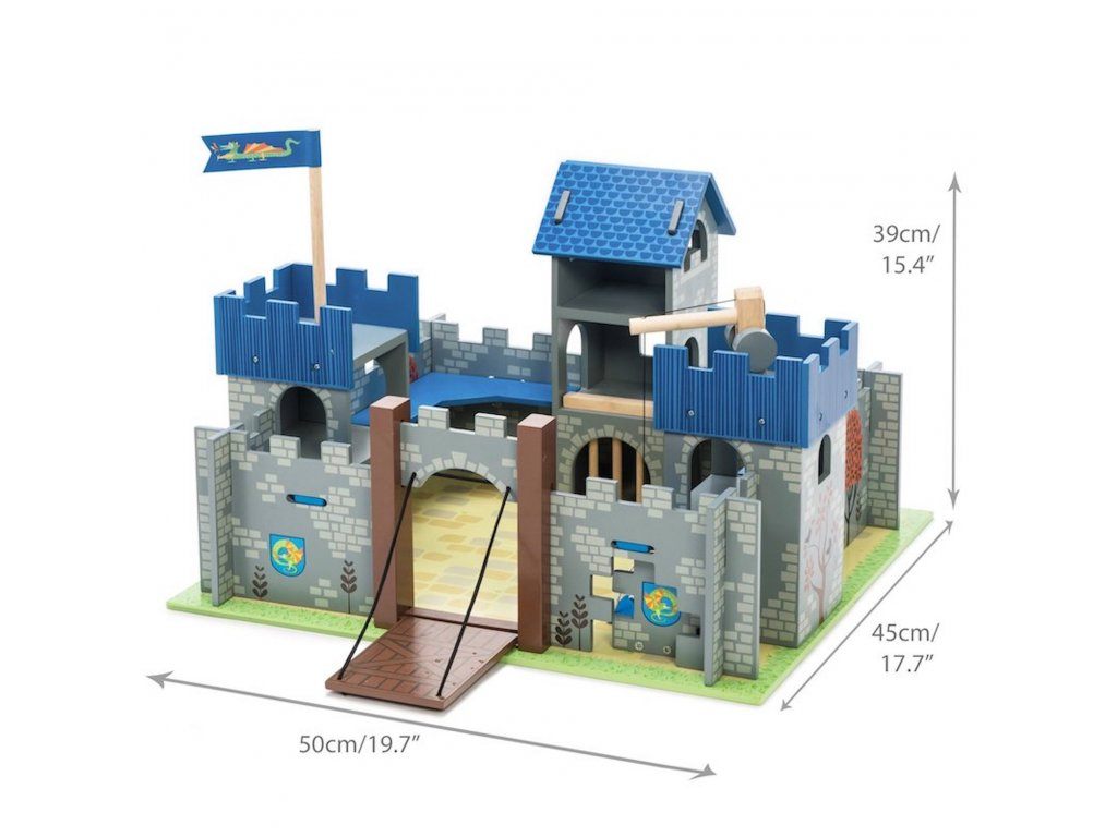 TV235 Excalibut Blue Wooden Toy Castle