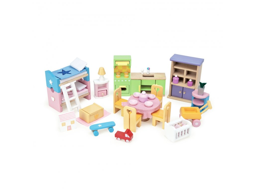 ME040 Starter Wooden Doll House Furniture Set