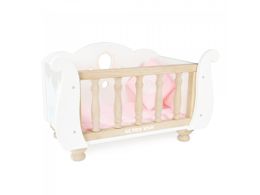 TV600 Sleigh Baby Cot Wooden Bed