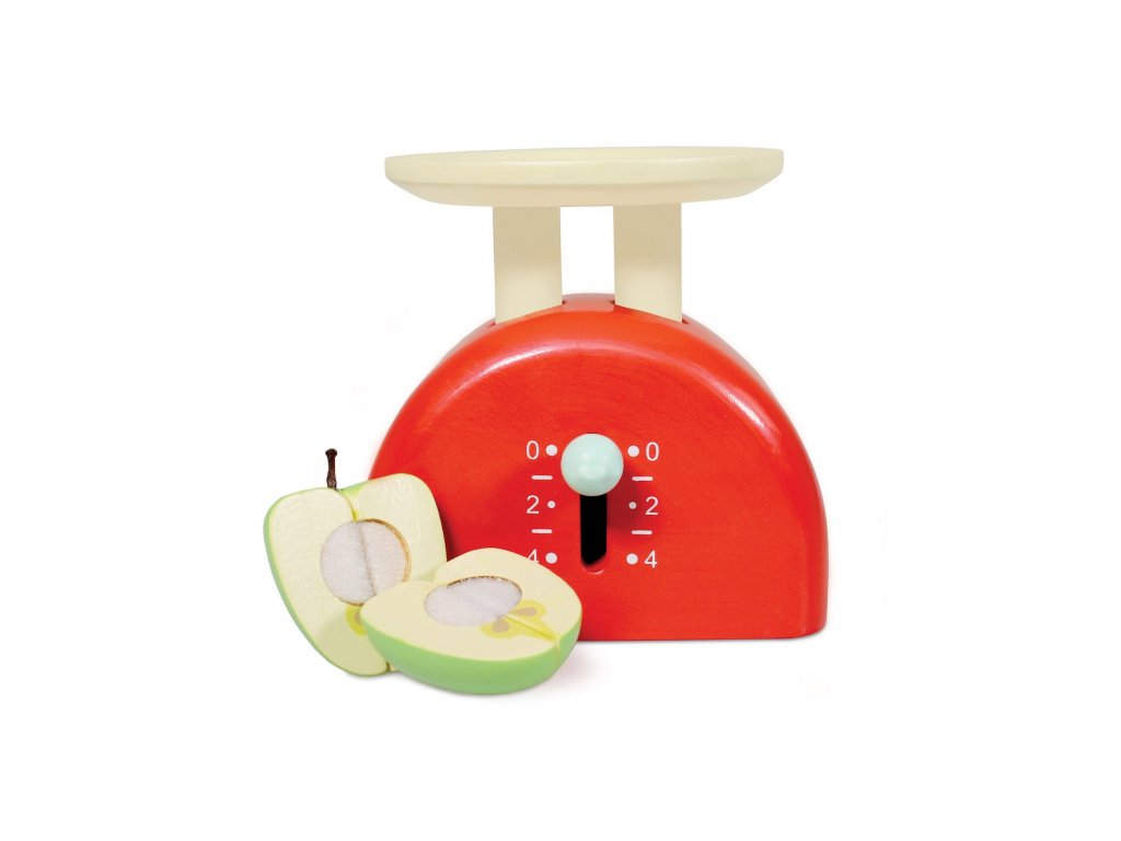 TV289 Weighing Scales Red Wooden Toy