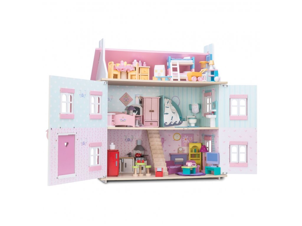 ME049 Sugar Plum Pink Dining Room Wooden Dolls House Furniture