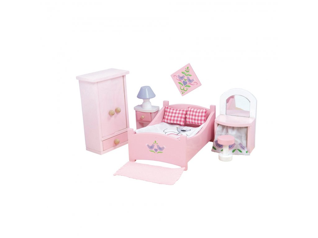 ME050 Sugar Plum Pink Master Bedroom Wooden Dolls House Furniture e802fbfa 3c80 4571 920a 7bfb6f0fae4a