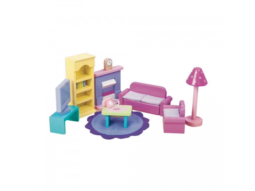 ME051 Sugar Plum Pink Living Room Wooden Dolls House Furniture