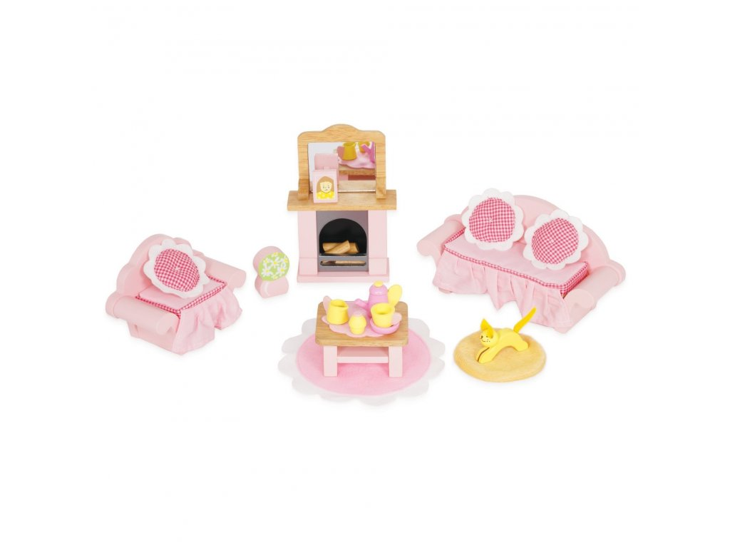 ME058 Daisylane Sitting Room Sofa Coach Armchair Cat Fireplace Wooden Toys