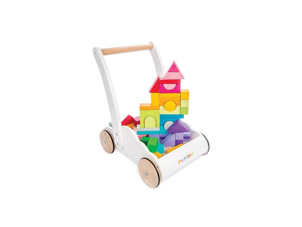 PL102 Rainbow Cloud Walker Wooden Toddler Walking Shapes Puzzle Tower 900x