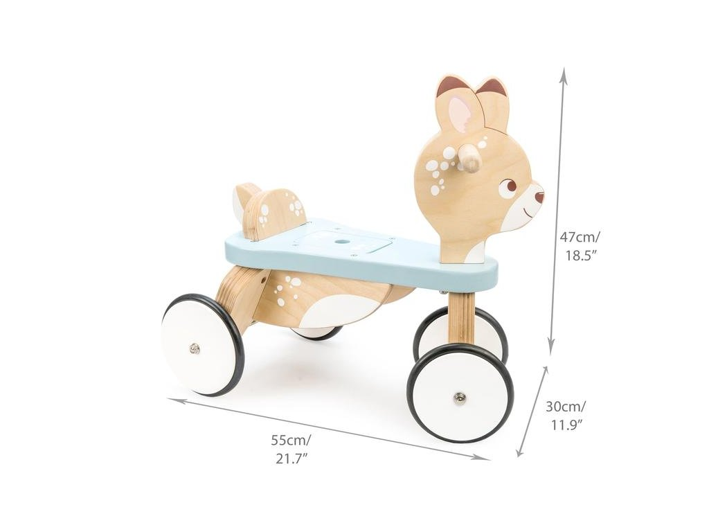 PL103 Ride on Deer Wooden Woodland Toddler Balance Bike