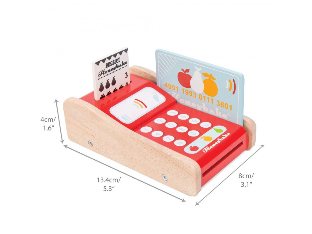 TV320 Card Machine Wooden Toy Front