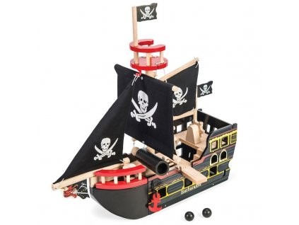 TV246 Barbarossa Pirate Ship Boat Black Sail Caribbean