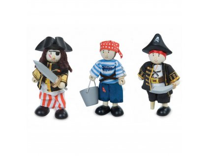 BK909 Pirates Wooden Fabric Toy Set Packaging