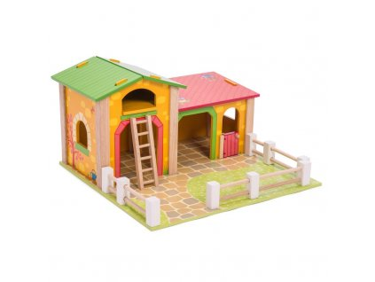 TV411 Barnyard Farm Barn Wooden Play Set