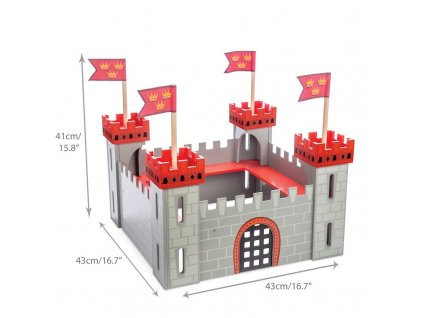 TV256 My First Castle Red Wooden Toy Stickers