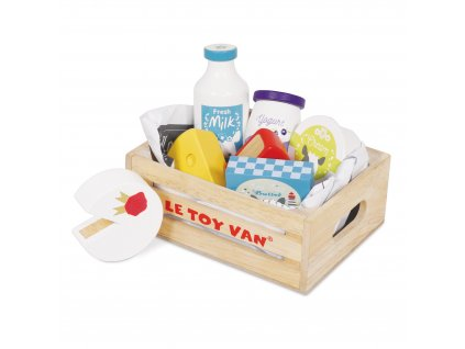 TV185 Cheese Dairy Crate Wooden Role Play Food Toy