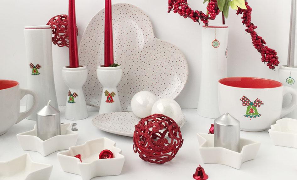 Vánoce v červenozelené kombinaci od české značky by inspire...porcelán s českou duší
