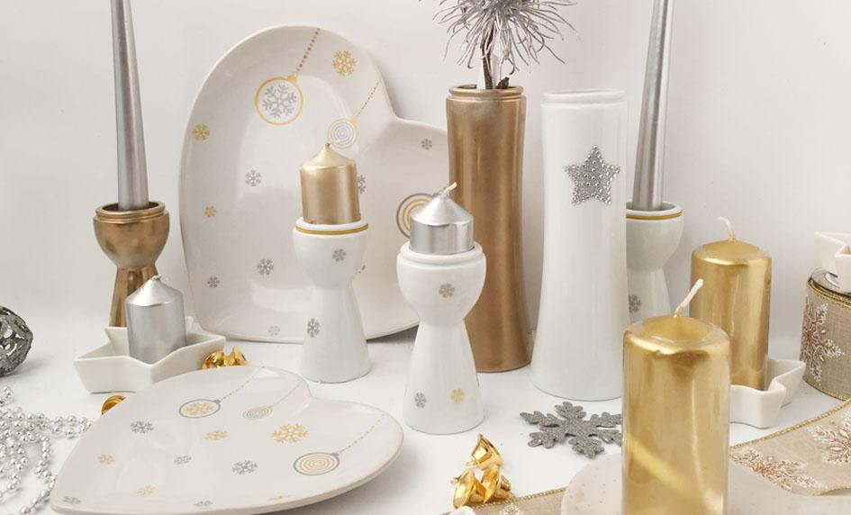 Vánoce ve zlaté od české značky by inspire...porcelán s českou duší
