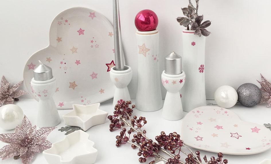 Vánoce v růžové od české značky by inspire...porcelán s českou duší