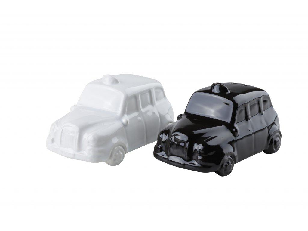 Sůl/pepř 'auta', bílá/černá