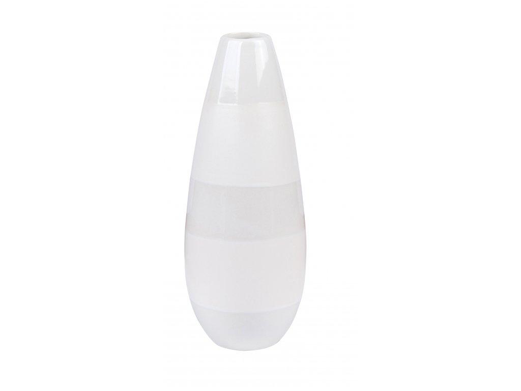 Váza Two (8x21cm), bílá