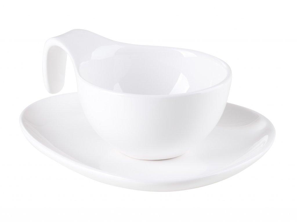 Cappuccino šálek s podšálkem 150ml, bílá
