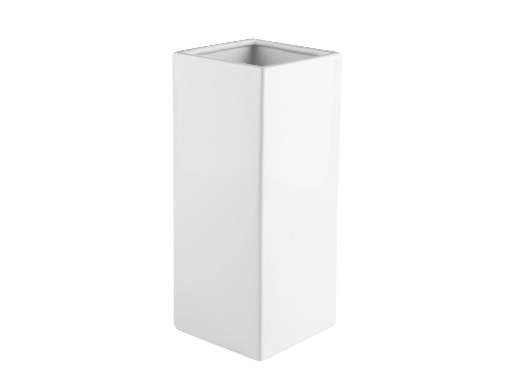 Váza Quadro (12x29cm), bílá