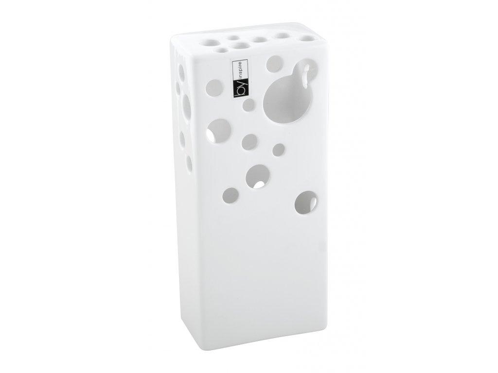 Váza Enigma (10x6x23cm), bílá