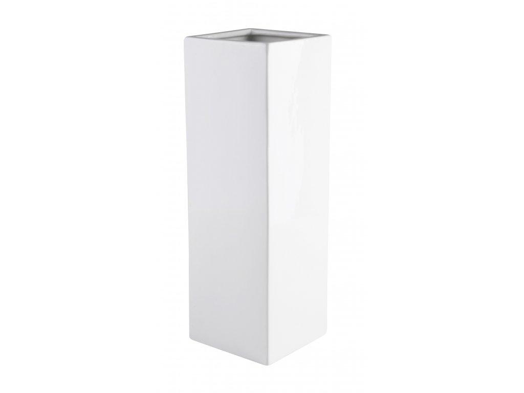 Váza Quadro (13x13x40cm), bílá