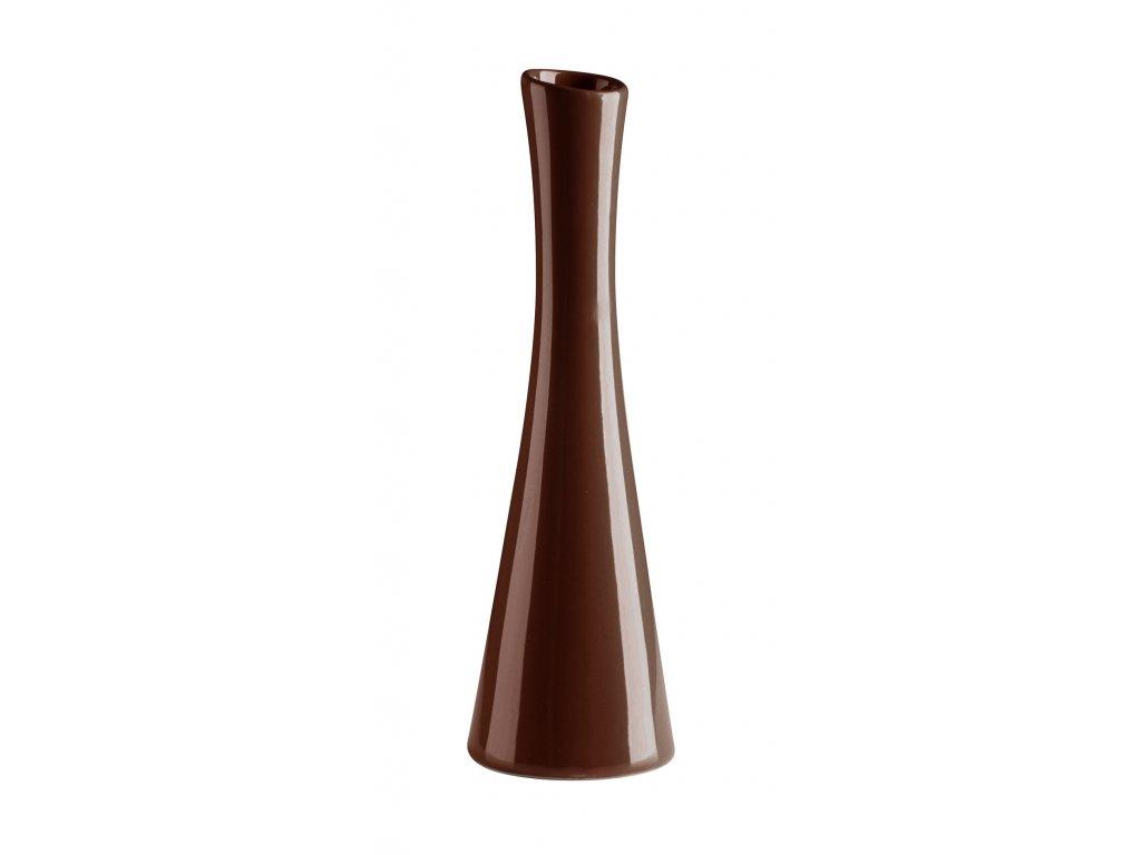 Váza 'X' ( 7,5x25cm), hnědá