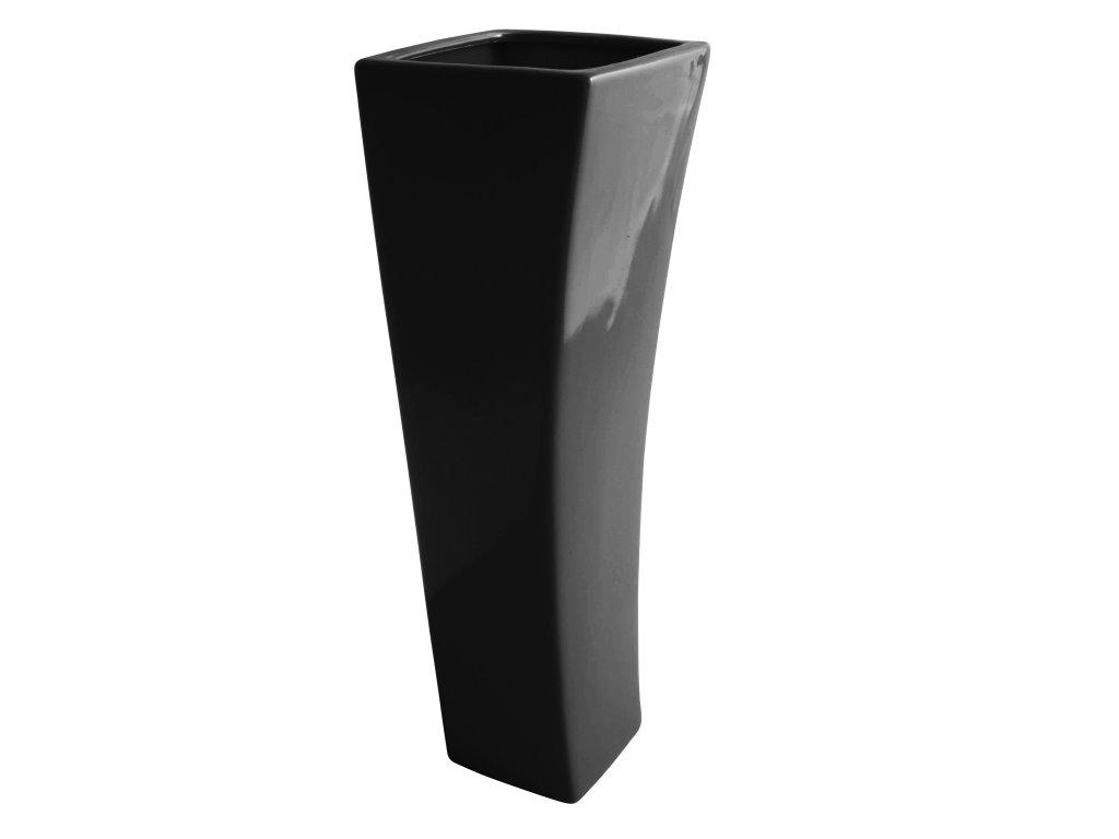 Váza 'Quadro V ' (12x40cm), černá