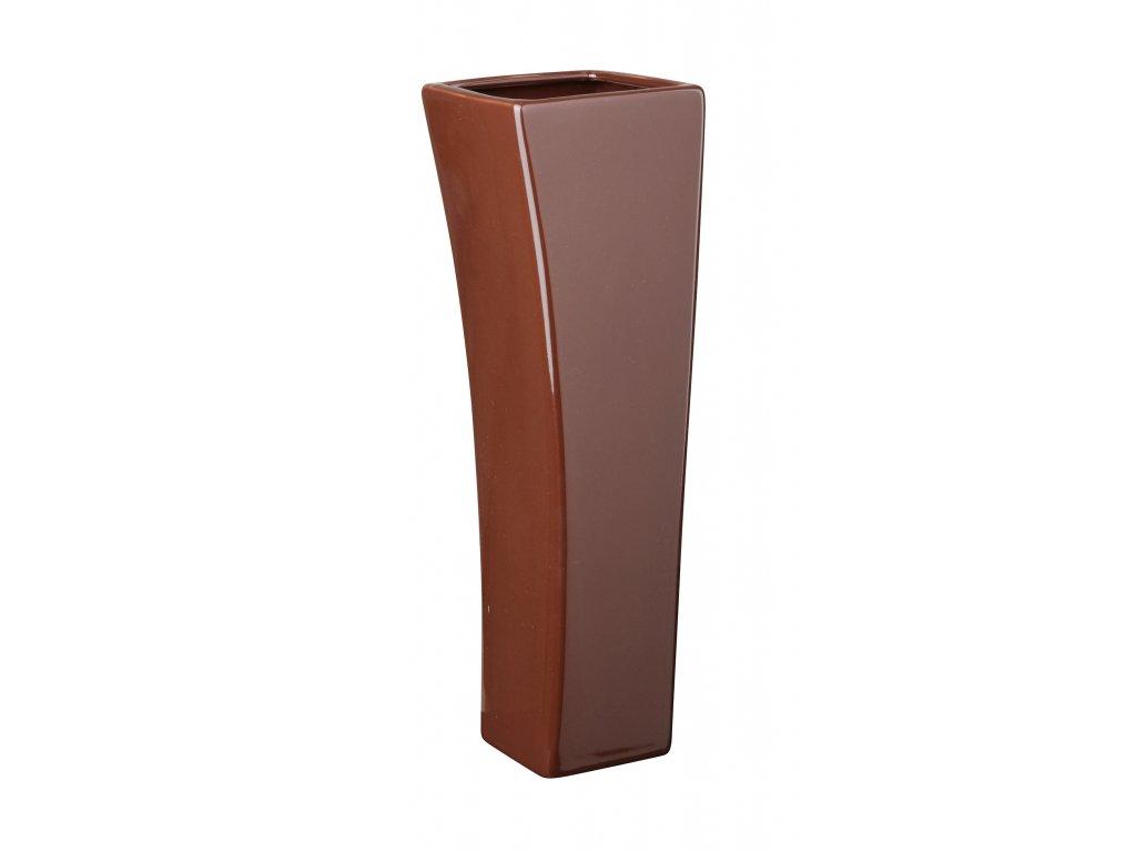 Váza 'Quadro V' (9x29cm), hnědá