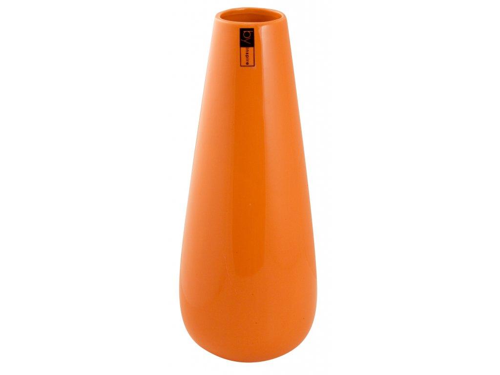 Váza 'Drop' (11x31cm), oranžová