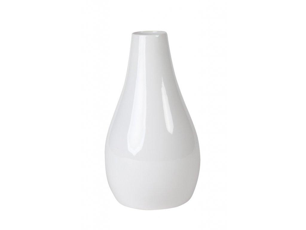 Váza 'Drop'(15x15x26cm), bílá