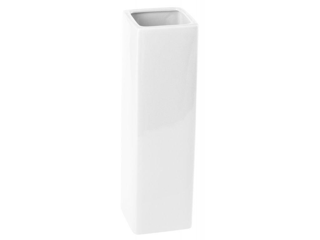 Váza 'Quadro ' (8x29cm), bílá