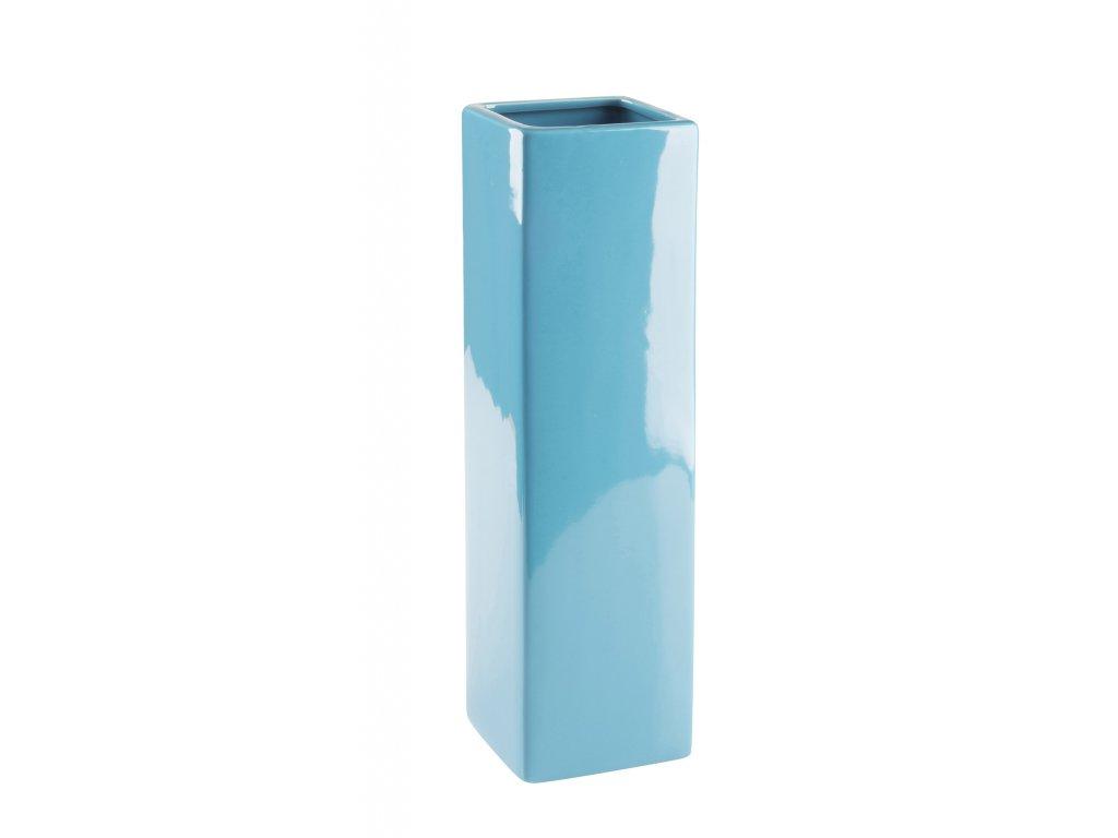 Váza 'Quadro ' (8x29cm), tyrkysová