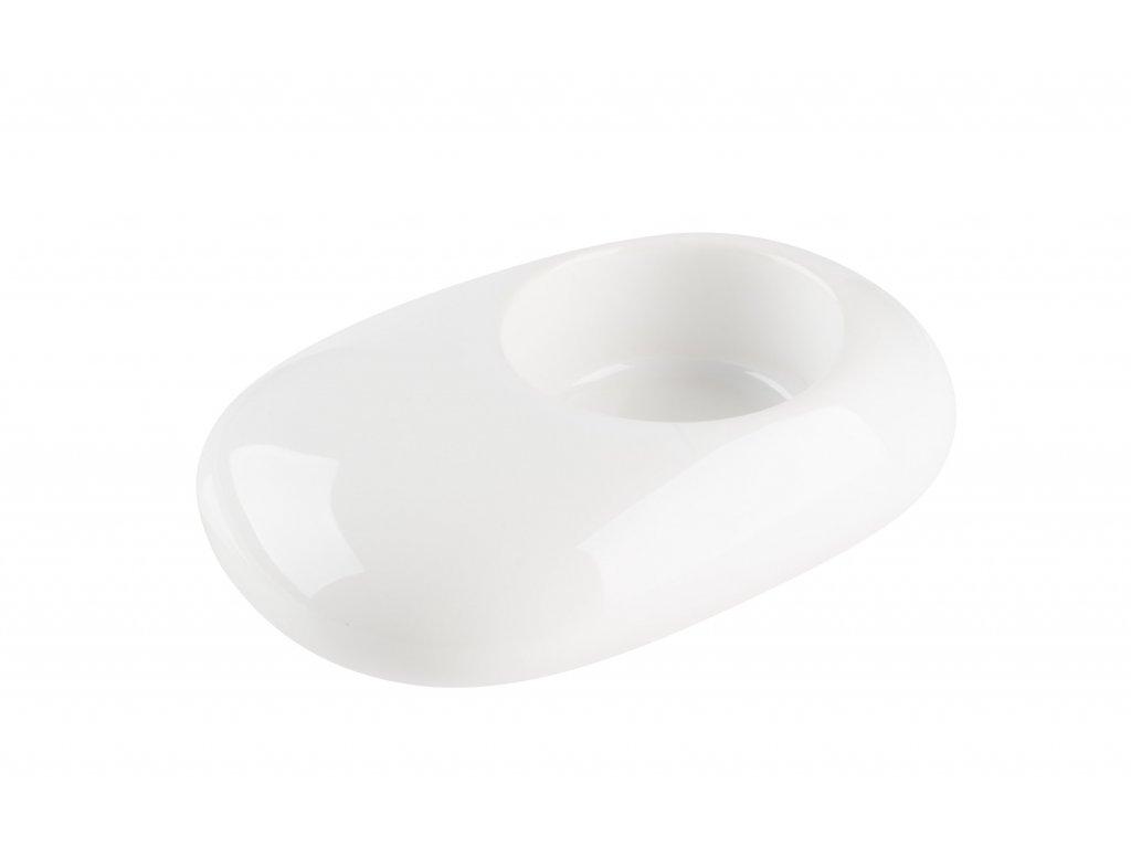Svícen 'Stone' (10x6x3cm), bílá