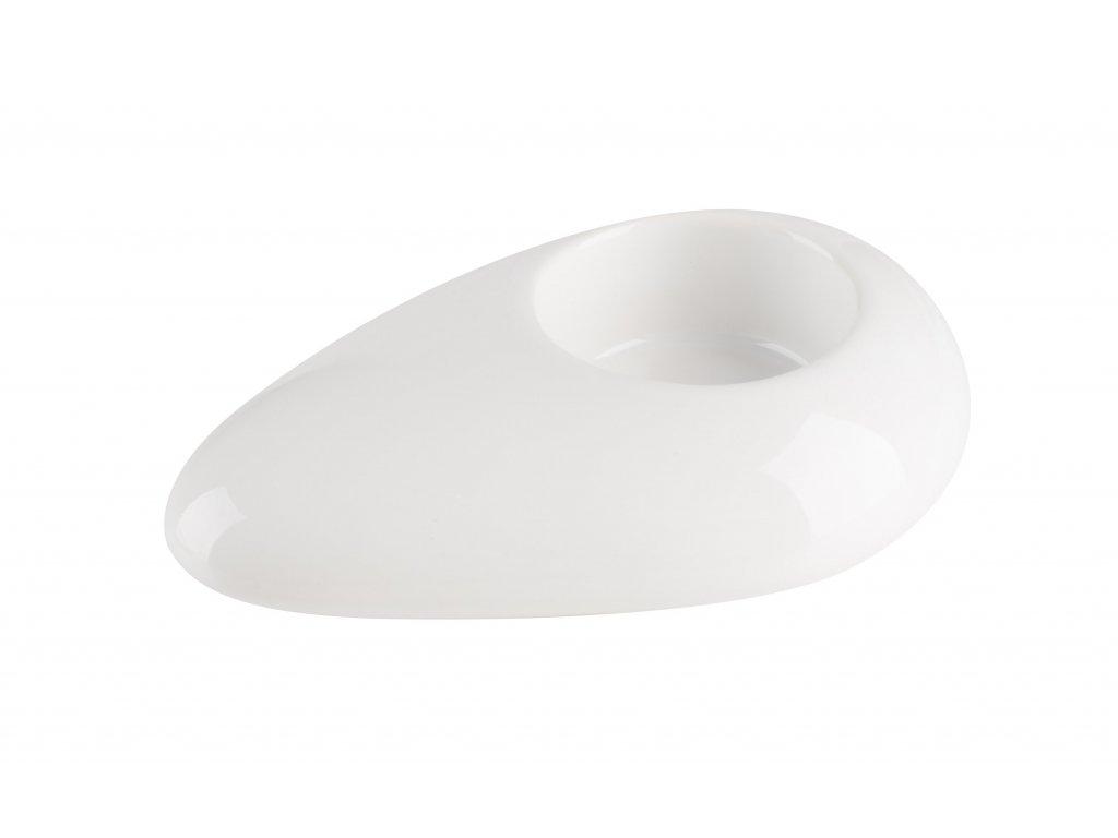 Svícen 'Stone' (12x8x3cm), bílá