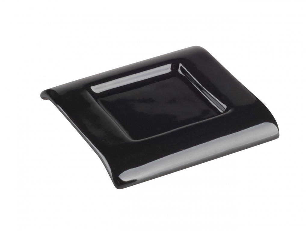 Podtácek (7,5x7,5x1cm), černá