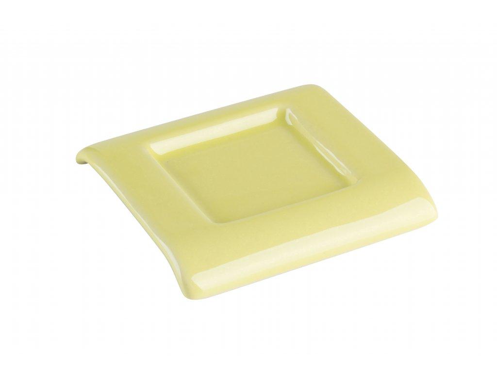 Podtácek (7,5x7,5x1cm), zelená/světlezelená