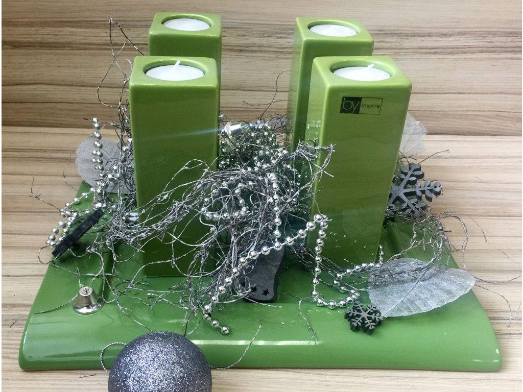 Tác,,Club'' (32X32X3cm), zelená