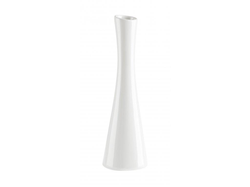 Váza 'X' ( 7,5x25cm), bílá