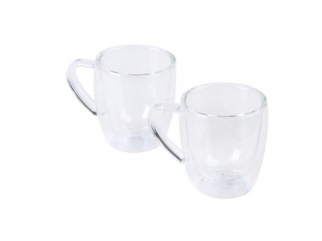 Dvouplášťový skleněný presso šálek 'Double' 80ml, 2ks