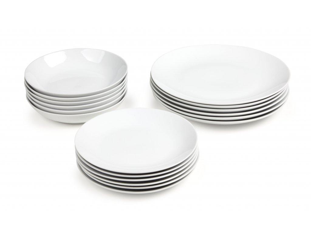 18dílná jídelní souprava Classico, bílá