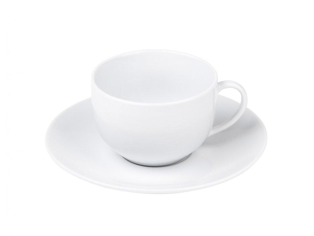 Šálek s podšálkem Classico 150ml, bílá
