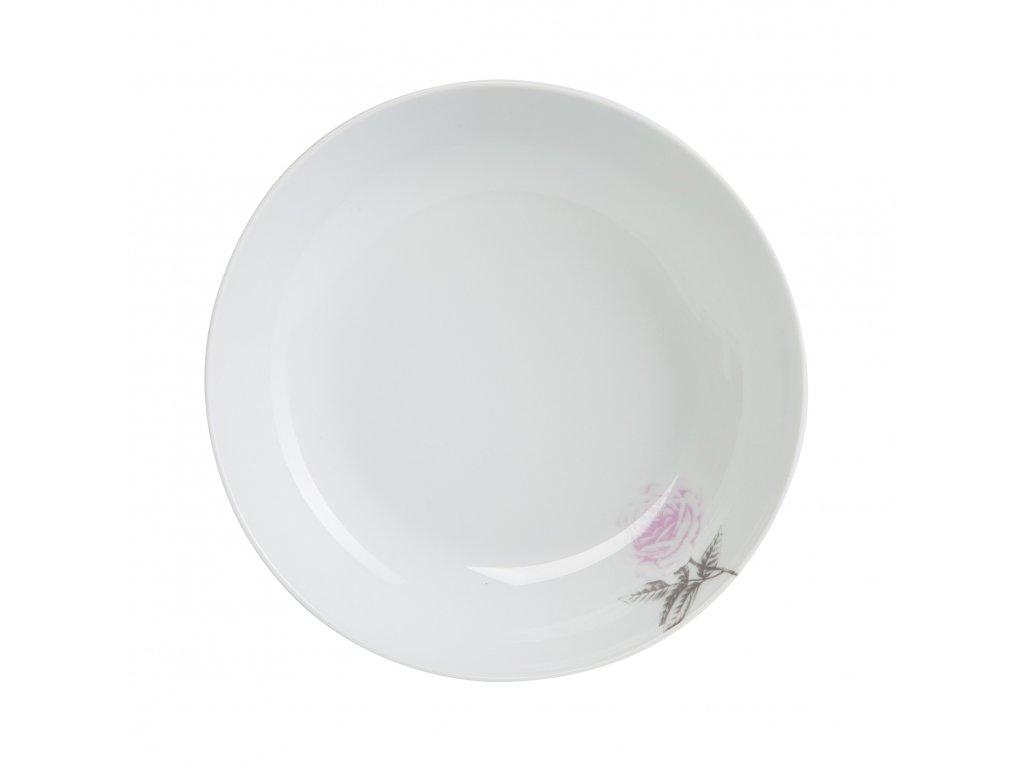 Hluboký talíř Rose White 20cm
