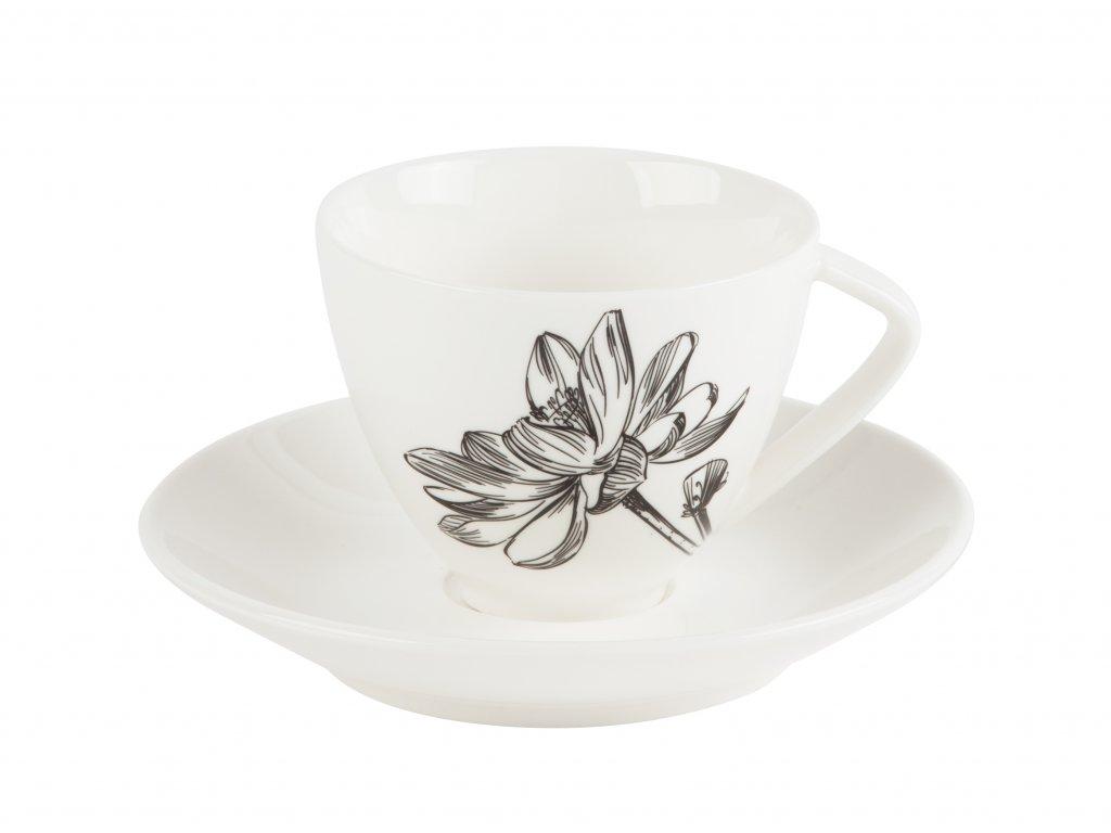 Kávový šálek s podšálkem Fleur 150ml