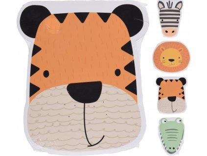 Blok pro děti ve tvaru zvířátka (tygr, zebra, lev, krokodýl)